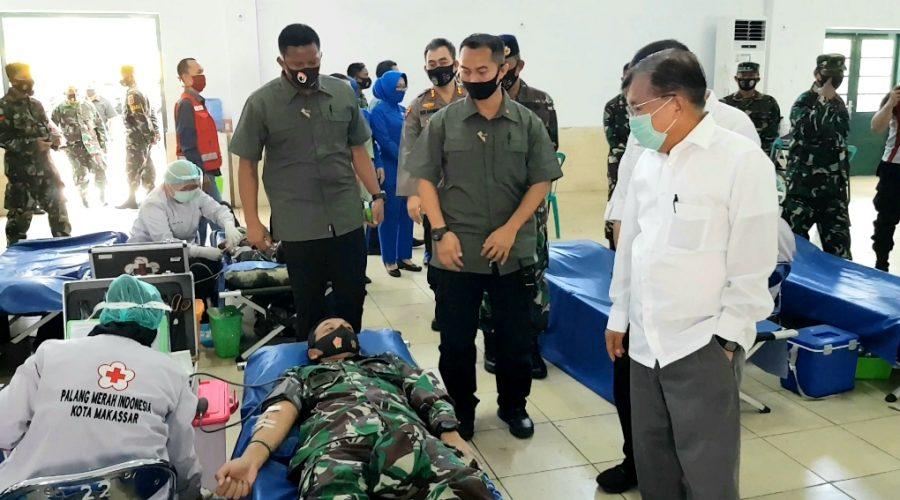 JK - PMI Selalu Terbantu Oleh TNI dan Polri
